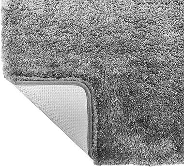 Gorilla Grip Original Premium Luxury Bath Rug, 24x17 Inch, Incredibly Soft, Thick, Absorbent Bathroom Mat Rugs, Machine Wash