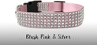 1c26e12653e3f Blush Pink Rhinestone Dog Collar; Bling Diamond Dog Collar: Blush Pink and Silver  Rhinestone