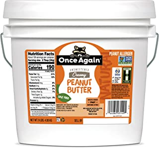 Once Again Natural, Creamy Peanut Butter - Salt Free, Unsweetened - 9 lb Bucket