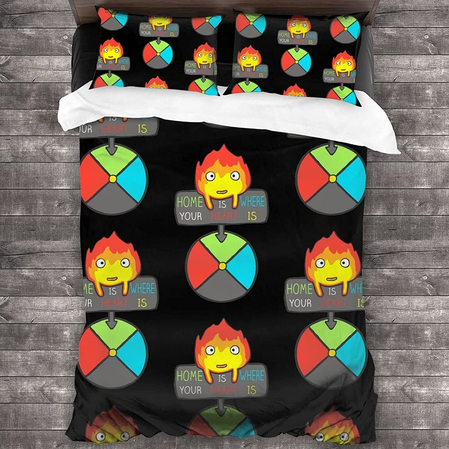 Studio Ghibli Howl's Moving Castle Max 86% OFF Bedding High quality new Duvet Zippe Set Cover