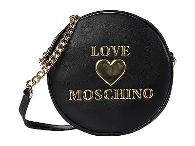 LOVE Moschino Circular Crossbody (Black) Handbags