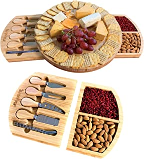 Best round charcuterie board with handles Reviews