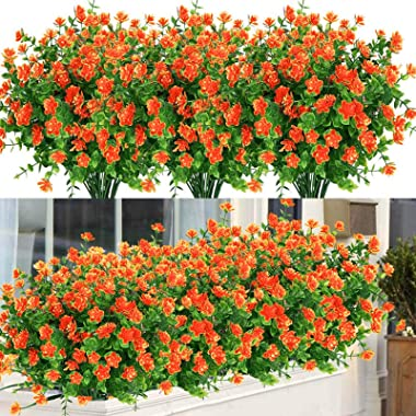 Darkduke 5/10/15PCS Artificial Eucalyptus Flowers, Flower Latex Real Bridal Wedding Bouquet, Outdoor UV Resistant Fake Flower