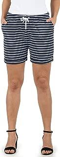 DESIRES Lena Damen Sweatshorts Bermuda Shorts Kurze Hose Mit Stretch-Material Und Streifen-Muster Regular Fit