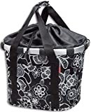 KLICKfix Fahrradtasche Bikebasket Fleur, schwarz, 26 x 35 x 28 cm, 15 litres