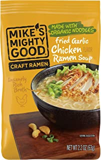 Mike's Mighty Good Ramen Soup Pillow Pack, Fried Garlic Chicken, 2.2 Ounce, 7 Count