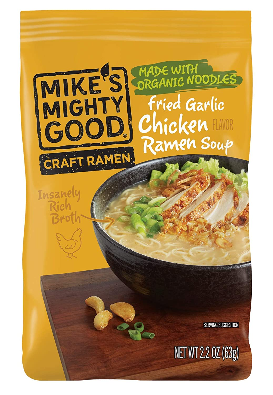 Mike's Mighty Good Ramen Soup Pillow Year-end annual account Fried Pack Chicken Industry No. 1 Garlic