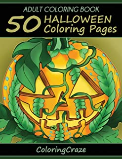 Adult Coloring Book: 50 Halloween Coloring Pages (Halloween Collection)