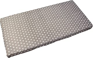 Barnsängmadrass, babymadrass 70 x 140 cm rullmadrass för barn (grå)