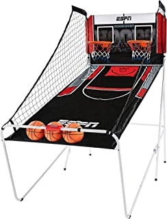 ESPN Indoor Home 2 Player Hoop Shooting Basketball Arcade Game with Preset Games, LED Scoreboard, 3 Basketballs & Pump