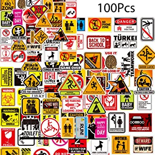 Kilmila Funny Stickers [100pcs] Quality Decal Value Pack Vinyls Stickers Gift | Great for Construction Toolbox, Hardhat,Skateboard Guitar Travel Case Sticker Door Laptop Luggage Car Bike Bicycle Helme