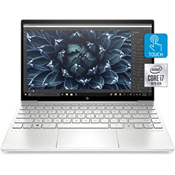 "HP Envy 13 Laptop, Intel Core i7-1065G7, 8 GB Ram, 256 GB SSD Storage, 13.3"" Full HD Touchscreen, Windows 10 Home, Fingerprint Reader (13-ba0010nr, 2020 Model)"