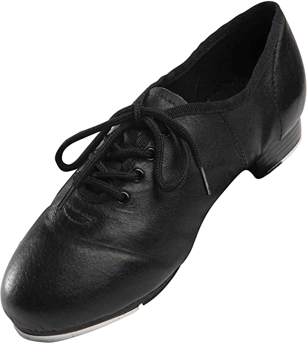 Size 35-41 Leather Material Low Heel Womens Split Sole Jazz Tap Dance Shoes for Women Ladies Girls Tap Shoes