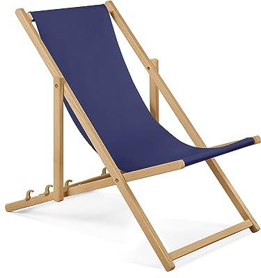 Chaise longue de jardin en bois Fauteuil Relax Chaise de