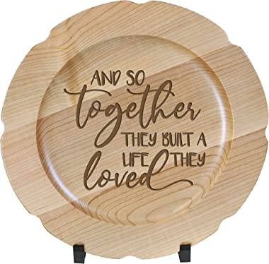 LifeSong Milestones Wooden Decorative Plate Family Keepsake 12in and So Together Housewarming Home Wall Decor Kitchen Keepsak