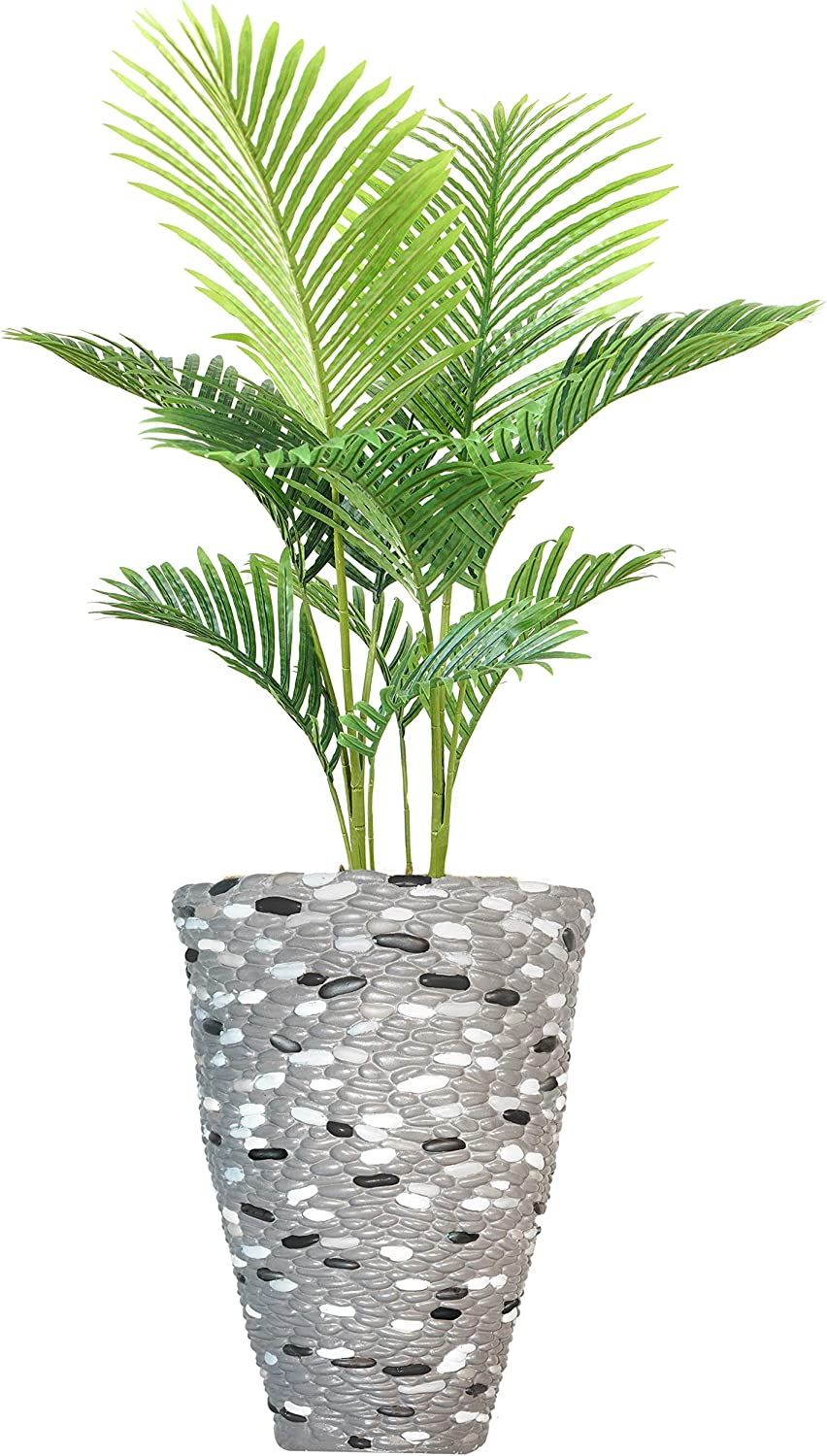 Bargain sale Vintage Home Décor Green Emerald Palm Artificial with Fashionable Faux Tree