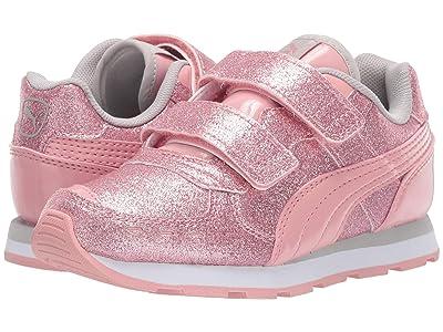 Puma Kids Vista Glitz Velcro (Little Kid) (Bridal Rose/Gray Violet/PUMA White) Girls Shoes