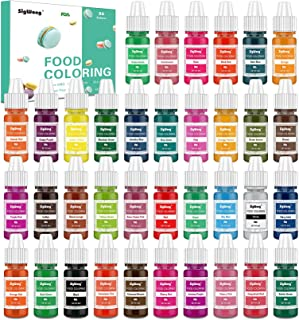 Food Coloring - 36 Color Concentrated Liquid Food Colouring Set - neon Liquid Food Color Dye for for Baking, Decorating, I...