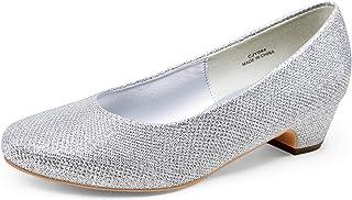Women's Low Chunky Heel Pumps Formal Dress Shoes...