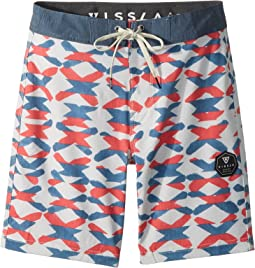 VISSLA Kids - Crossing Four-Way Stretch Boardshorts 17