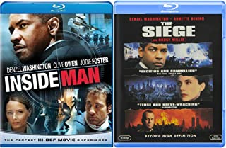 Clive Jodie Denzel Double Blu Ray The Siege and Inside Man explosive 2-Action Movie Blu-ray Bundle