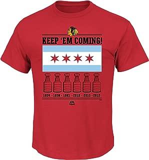 Chicago Blackhawks NHL Men's City Flag T-Shirt