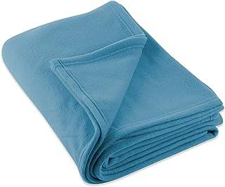 J & M Home Fashions Fleece Blanket, 60-Inch by 96-Inch, Copen Blue