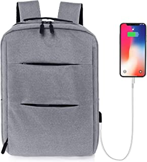 حقيبة ظهر للكمبيوتر المحمول نحيفة احترافية 14 بوصة / حقيبة ظهر للسفر للرجال مع منفذ شحن USB / حقائب كتب للبنات