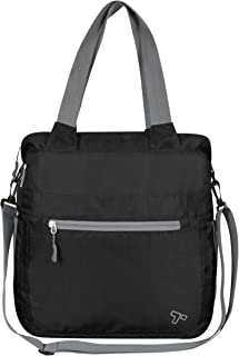 Packable Crossbody Tote, Black, One Size