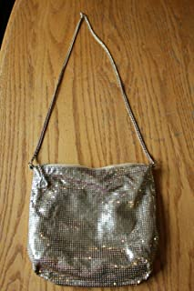 For Whiting & Davis For Vintage Brass Metal mesh purse Evening bag Gold Saks Fifth Ave