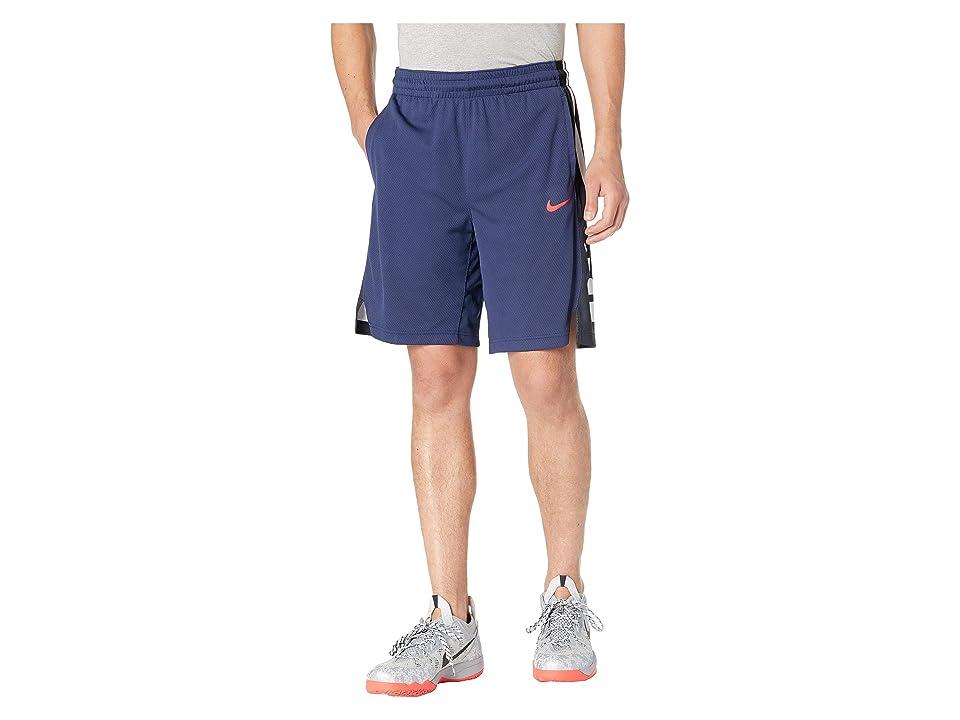 Nike Elite Stripe Basketball Short (Midnight Navy/University Red) Men