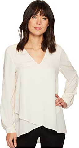 Karen Kane - Split Sleeve Crossover Top