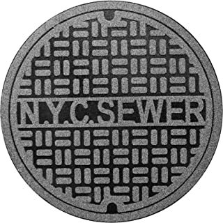 Fred & Friends 5242976 Feet First-Recycled, New York Door Mat, Grey and Black