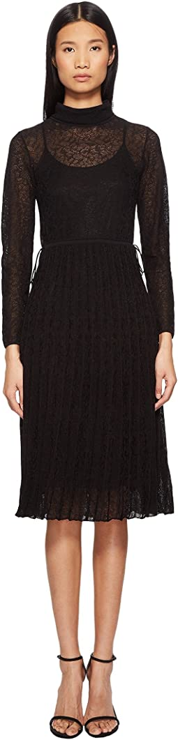 M Missoni Solid Lace Plisse Dress