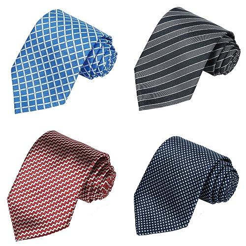 7bb7796551d3 KissTies Set of 4 Ties 63'' XL Extra long Necktie Tall Tie + 1