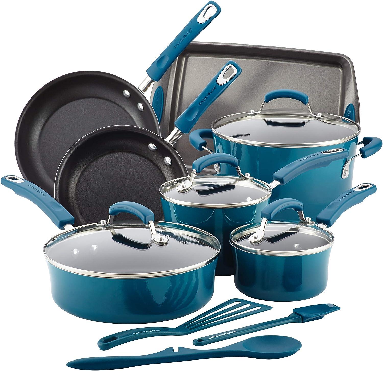 Rachael Ray Brights Nonstick Cookware Set