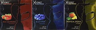 Hydro Herbal 50g, 3 Mix: Strawberry, Blueberry & Mango. Hookah Shisha Tobacco Free Molasses, Value Pack!