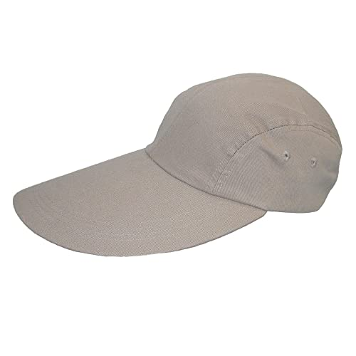 CTM Cotton Long 5 Inch Bill Visor Baseball Cap 0d8809ee685