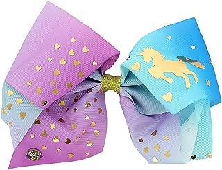 JoJo Siwa Purple Ombre Unicorn Gold Stars Hair Bow Clip