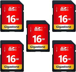 Gigastone 5er Pack Speicherkarte SDHC 16GB bis zu 80 MB/Sek, UHS I, Class 10, U1
