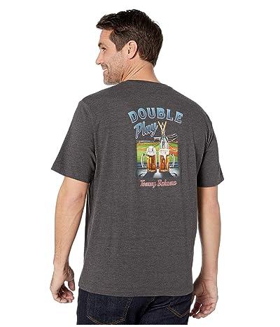 Tommy Bahama Double Play T-Shirt (Coal Heather) Men