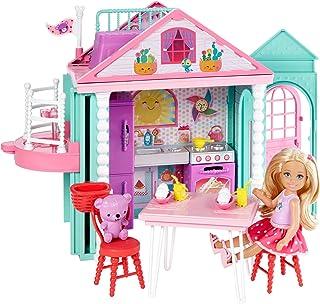 Barbie-Dwj50 Casita de Chelsea con accesorios, multicolor,