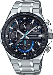 Men's Edifice Quartz Watch with Stainless-Steel Strap, Silver, 28.5 (Model: EQS-920DB-1BVCR)