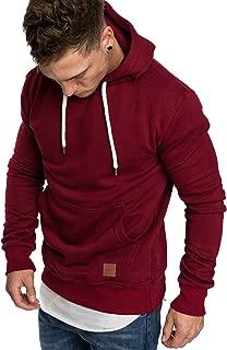 Amaci&Sons Herren Basic Kapuzenpullover Sweatjacke Pullover Hoodie Sweatshirt 4023