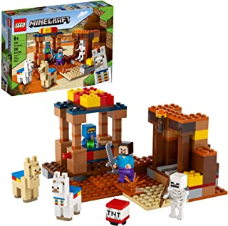 LEGO Minecraft The Trading Post 21167 Collectible Action-Figure Playset with Minecraft's Steve and Skeleton Toys, New 2021...
