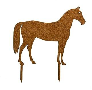 Edelrost Pferd Gartenstecker