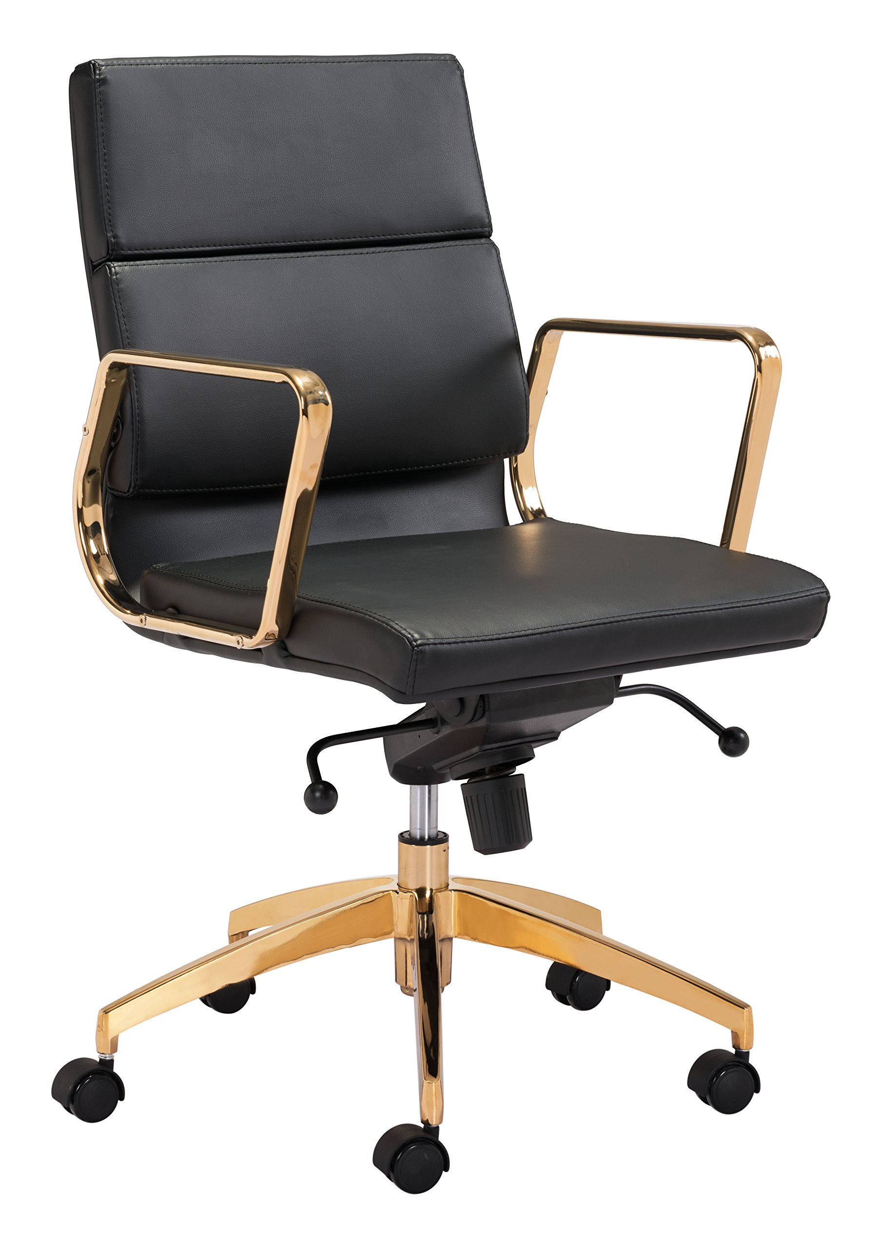 Amazon.com: Zuo Modern Scientist Low Back Office Chair, Black