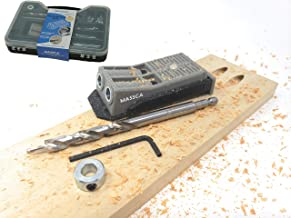 Massca Twin Pocket Hole Jig Set Box – Adjustable & Easy to Use Joinery Woodworking..