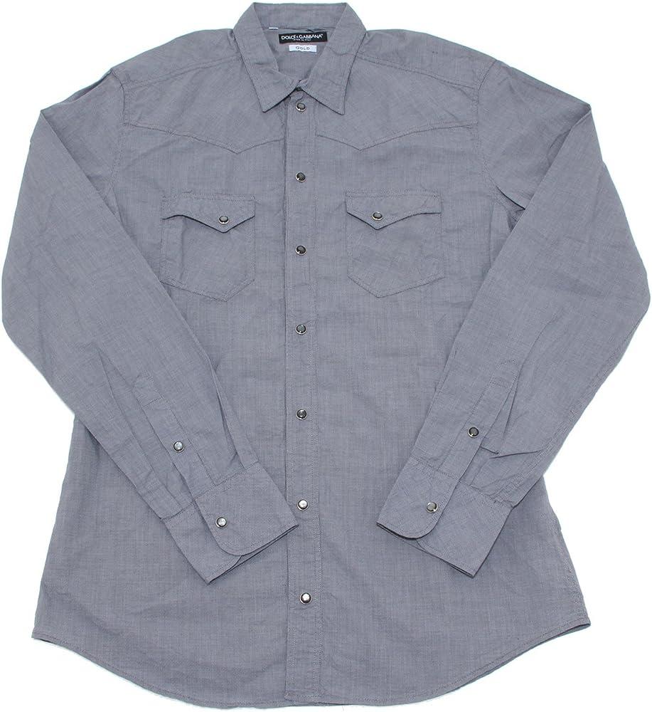 Dolce&gabbana, camicia per uomo,100% cotone,taglia 39 0164
