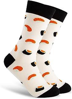 Men's Fun Pattern Funky Colorful Crew Socks Casual Dress Sock…